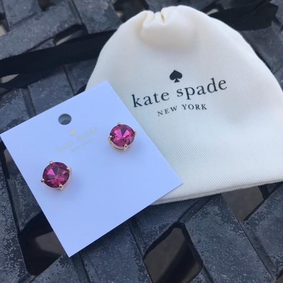 kate spade Jewelry - Kate Spade Pink Gumdrop Stud Earrings